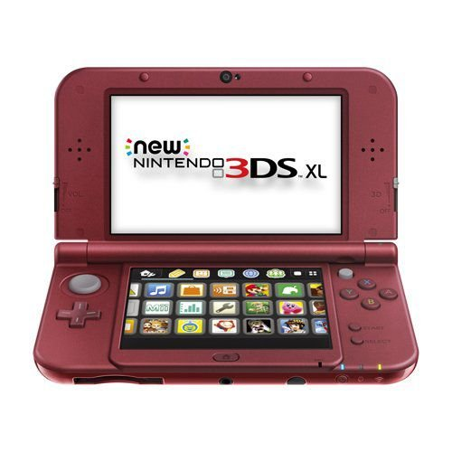 New nintendo 3ds xl vermelho + carregador original nintendo