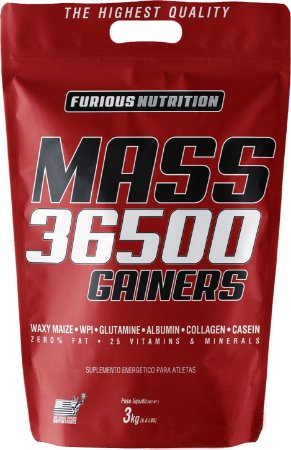 MASS 36500 GAINERS REFIL 3KG - FURIOUS NUTRITION