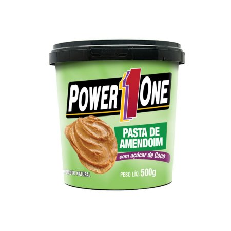 PASTA INTEGRAL AMENDOIM 500G - POWER ONE