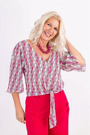 Blusa Color Geometric Pink