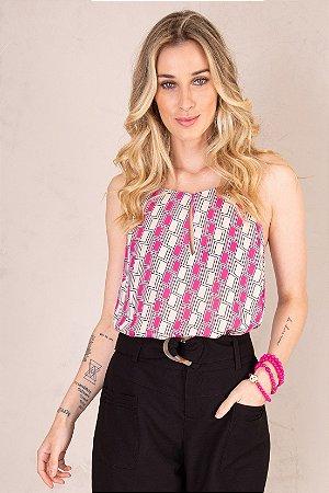 Regata Color Geometric Pink