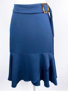 Saia Midi Itália Azul Marinho