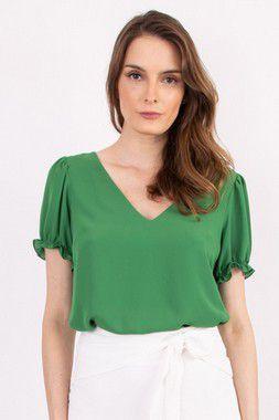 Blusa Isis Petit Crepe Green