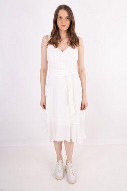 Vestido Midi Florença Off White