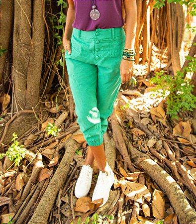 Calça Cropped Paula Veridian