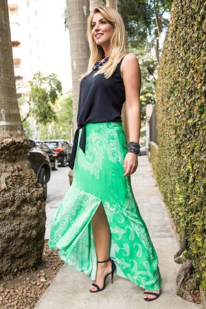 Saia Green Cashmere