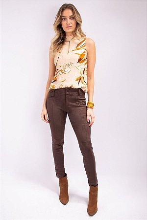 Calça Skinny Suede Isabela