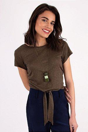 T-Shirt Laço Fresh Linho