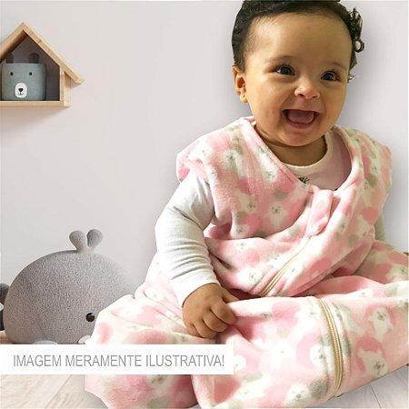 Saco de dormir para bebê em Microsoft Baleinha Rosa (inverno)