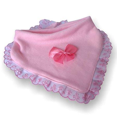 Babador bandana princesa para bebê rosa 100% algodão