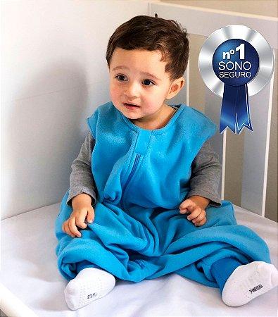 Saco de dormir bebê com pezinho em Microsoft Azul [Inverno]