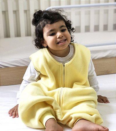 Saco de dormir bebê com pezinho em Microsoft Amarelo [Inverno]