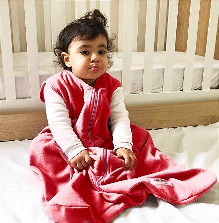 Saco de dormir para bebê sem manga em Microsoft vermelho (inverno)