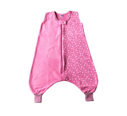 *New* Saco de dormir infantil com pezinho em Microsoft Rosa Estrelas [Inverno]
