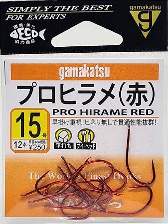 Anzol Gamakatsu Pro Hirame Red