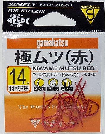 Anzol Gamakatsu Kiwame Mutsu Red