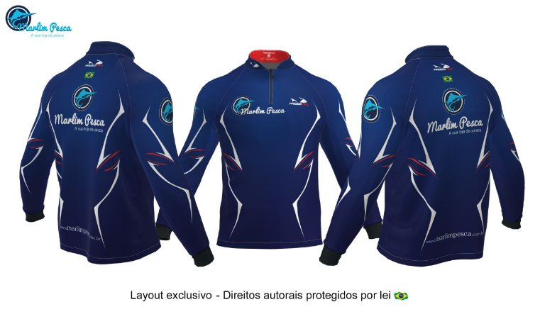 Camisa Marlim Pesca - Azul