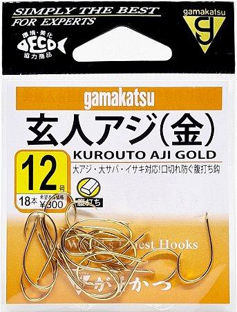 Anzol Gamakatsu Kurouto Aji Gold