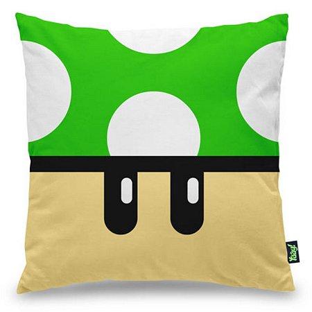 Almofada Gamer Cogumelo Verde 1 Up