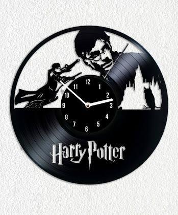 Relógio Vinil Harry Potter