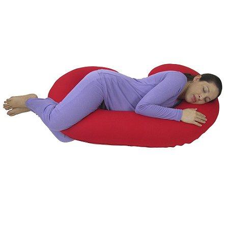 Travesseiro para Gestante Vermelho BabyKinha