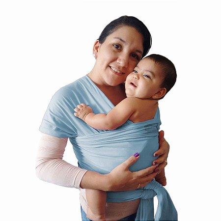 Wrap Sling Canguru BabyKinha Azul Bebê