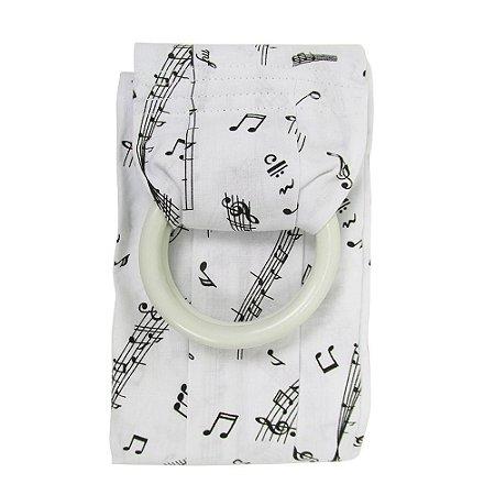 Sling Canguru Notas Musicais branco