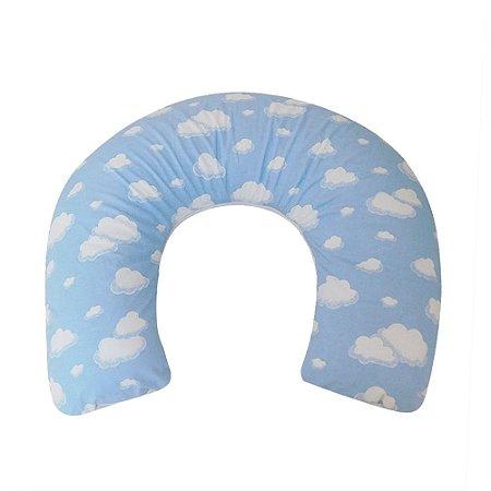 Almofada de Amamentação Azul Nuvens