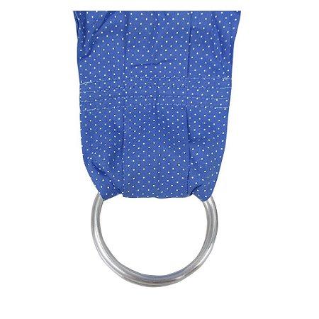 Sling Canguru Azul Poá BabyKinha Argola Alumínio