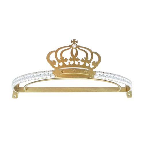 Dossel Coroa com Pérola Dupla Dourado BabyKinha