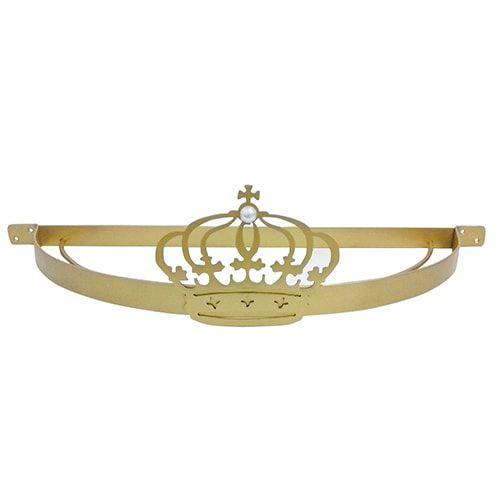 Dossel Coroa Liso BabyKinha Dourado