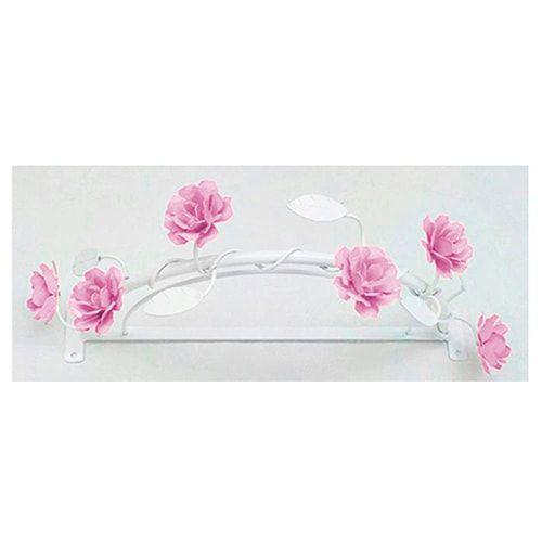 Dossel Lindas Flores Rosa com Folhas Brancas BabyKinha