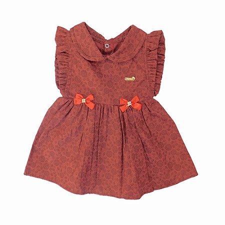 Vestido para Bebê Edjane Vinho