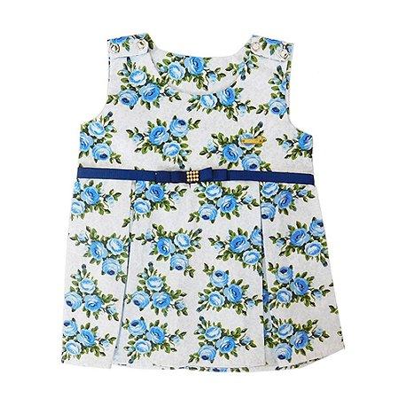 Vestido para Bebê Mariza Azul Claro