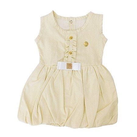 Vestido para Bebê Bege Dayane