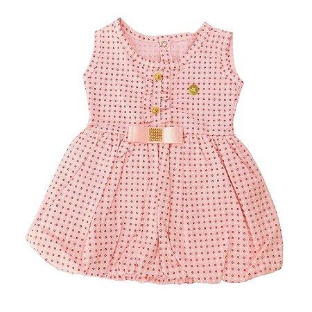 Vestido para Bebê Rosa Claro Dayane