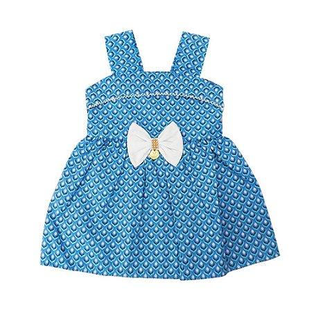 Vestido para Bebê Azul Missileni