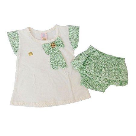Conjunto 2 Peças para Bebê Jaqueline Verde