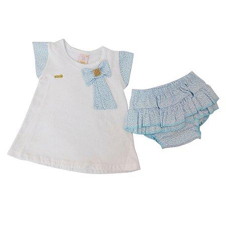Conjunto 2 Peças para Bebê Jaqueline Azul