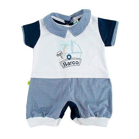 Macaquinho Curto Xadrez Marinho Dayane Baby