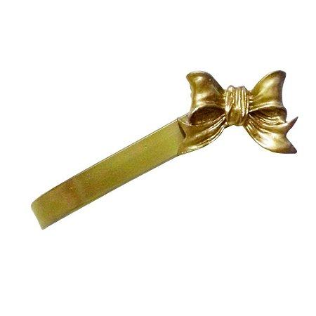 Abraçadeira de Cortina BabyKinha Laço Liso Dourado