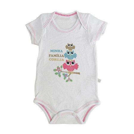 Body Minha Família Coruja Java Baby