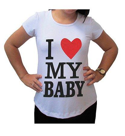 Camiseta Para Gestante I Love My BabyKinha