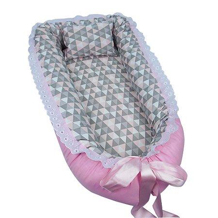 Ninho Para Bebê Triângulos Rosa BabyKinha