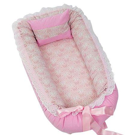 Ninho Para Bebê Rosa Borboletinhas BabyKinha