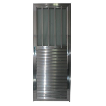Porta Carioca Brilho 210x80 Esquerda, Vidro Mini Boreal