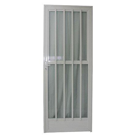 Porta Palito Branca 210x70 Abertura Esquerda, Vidro Incolor
