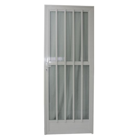 Porta Palito Branca 210x80 Abertura Esquerda, Vidro Fumê