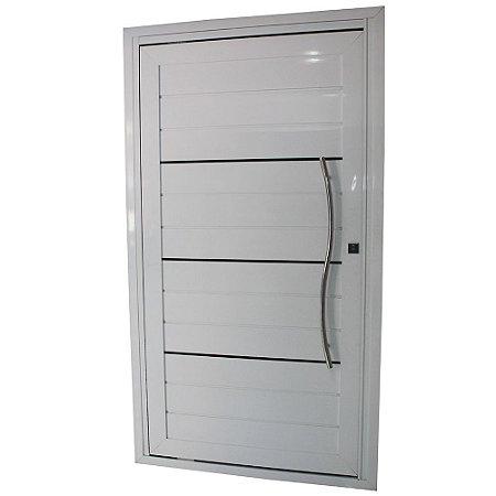 Porta Pivotante de Alumínio Branca 220x100 Abertura Esquerda