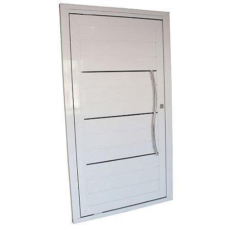 Porta Pivotante de Alumínio Branca 220x100 Abertura Direita